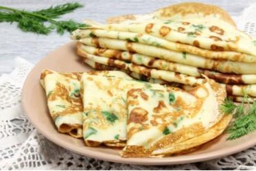 Вкусно как Дома - Блинчики с припеком яйцо и зеленый лук  (в порции 2 шт.)
