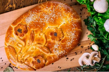 Вкусно как Дома - Пирог с капустой и грибами