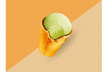 Мороженое Золотой стандарт Пломбир фисташковый