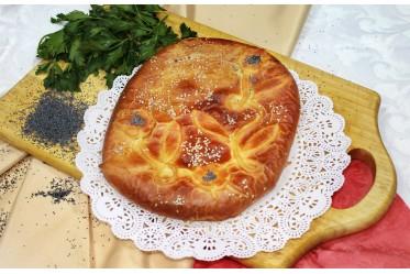 Пирог с малиной и абрикосом