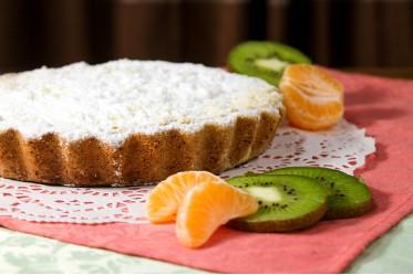 Киш десертный с киви и мандарином