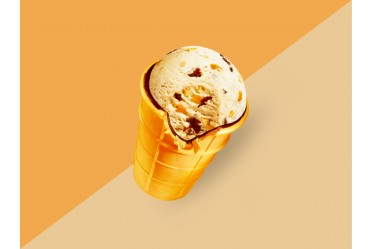 Мороженое Золотой стандарт Пломбир с черносливом, курагой и арахисом