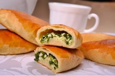 Вкусно как Дома - Пирожок с зеленым луком и яйцом