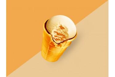 Мороженое Золотой стандарт Пломбир со сгущенкой